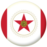 Birmingham (Alabama) Flag 25mm Button Badge